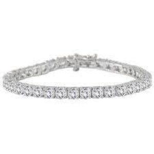 4.5 Ct round cut diamond tennis bracelet solid whi